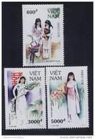 Vietnam Viet Nam MNH Perf Stamps 1995 : Vietnamese Women's Costume / Flower / Bike / Bicycle (Ms700) - Vietnam