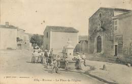 """/ CPA FRANCE 13 """"Rognac, La Place De L'église"""" - France"""