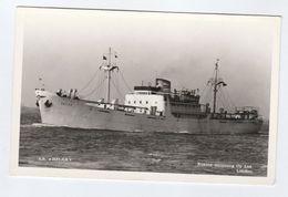 Ship SS HELKA Photo Postcard Euxine Shipping Cy Ltd London - Steamers