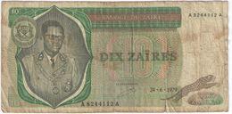 Dix Zaïres/Banque Du Zaïre/ /1979                BILL190 - Zaïre