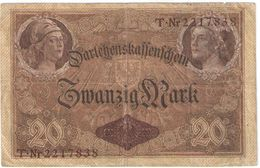 20  Mark /  TwanzigMark/Reichsfchulderverwaltung/1914                BILL192 - 20 Mark