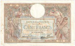 Billet/100 Francs/  Olivier Merson DEL/Banque De France/ 1939        BILL194 - 1871-1952 Antiguos Francos Circulantes En El XX Siglo