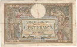Billet/100 Francs/  Olivier Merson DEL/Banque De France/ 1939        BILL195 - 1871-1952 Antiguos Francos Circulantes En El XX Siglo