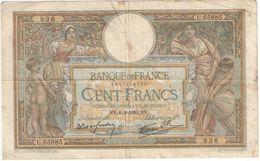 Billet/100 Francs/  Olivier Merson DEL/Banque De France/ 1939        BILL195 - 1871-1952 Antichi Franchi Circolanti Nel XX Secolo