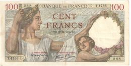 Billet/100 Francs/  Sully/Banque De France/ 1939        BILL196 - 1871-1952 Antiguos Francos Circulantes En El XX Siglo