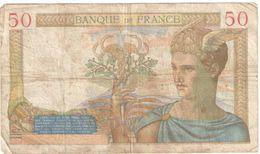 Billet/50 Francs/ Cérés /Banque De France/ 1936        BILL197 - 1871-1952 Circulated During XXth