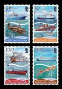 Falkland Islands 2017 Mih. 1345/48 Fishery. Ships. Fauna. Fishes MNH ** - Falklandeilanden