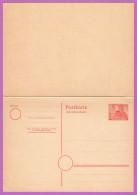 BER P 7 M 1949 8/8pf Schoeneberg, Rudolf Wilde Square, W/Reply Card Attached - [5] Berlin