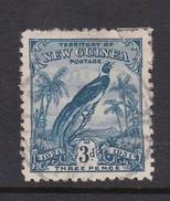 New Guinea SG 153 1931 Raggiana Bird Dated 3d Blue Used - Papua New Guinea