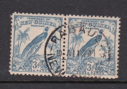 New Guinea SG 180 1931 Raggiana Bird No Date 3d Blue Used Pair - Papua New Guinea