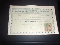 CAISSE DE PLACEMENTS ET DE DEPOTS  (1933) LE MANS - Acciones & Títulos