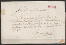 LSC Datée 1787 De MONS Pour Le Duc D'Arenberg à BRUXELLES + Griffe Rouge MONS - 1714-1794 (Austrian Netherlands)