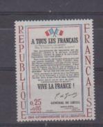 FRANCE      N° YVERT  :   1408  A   NEUF SANS CHARNIERE - Frankreich