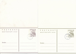 NORGE / NORWAY - 6 Post Cards / Postkort + 4 Envelopes / Postbrev - Ganzsachen