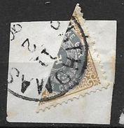 Antilles Danoises 1903 N° 7 Coupé En Deux Sur Fragment Oblitération Lisible - Denmark (West Indies)