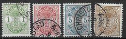 Antilles Danoises 1900 N° 16/19 Oblitérés Armoiries Cote 130 Euros - Denmark (West Indies)
