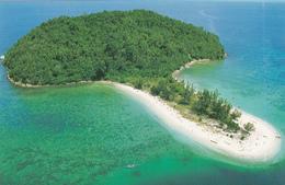Big Postcard Of Coral Island Sulug Off Tanjung Aru,Malaysia,,L42. - Malaysia