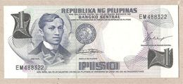 Filippine - Banconota Non Circolata FdS Da 1 Piso - 1969 - Filippine