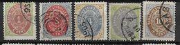 Antilles Danoises 1873 N° 5/8 Et 10 Oblitérés Cote 152,50 Euros - Denmark (West Indies)