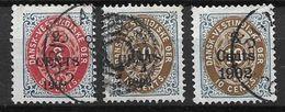 Antilles Danoises 1902 N° 20 Et 22/23 Oblitérés Surchargés Cote 85 Euros - Denmark (West Indies)