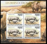 Burundi 2011 MNH SS, White Rhino Or Square-lipped Rhino - Rhinozerosse