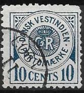 Antilles Danoises 1902 Taxe N° 4 Oblitéré Cote 50 Euros - Denmark (West Indies)