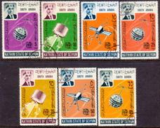 SOUTH ARABIA SEIYUN 1966 SG #84-90 Compl.set Used ITU Centenary - Stamps