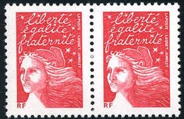 VARIETE SUR LUQUET N°3417b En Paire ** Sans Phosphore - 1997-04 Marianne Du 14 Juillet