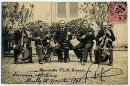 BOURG EN BRESSE Cp Photo ORCHESTRE Quintette 1903 - Autres