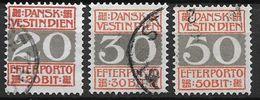Antilles Danoises 1905 Taxe N° 6/8 Oblitérés Cote 64 Euros - Denmark (West Indies)