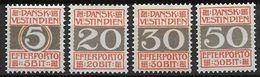 Antilles Danoises 1905 Taxe N° 5/8 Neufs * MH Cote 45 Euros - Denmark (West Indies)