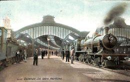 Ostende - La Gare Maritime (top Animation, Train, Colorisée, Aqua Photo) - Oostende