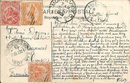 Uruguay   MONTEVIDEO  TERRAZA DE LOS POCITOS  , ( Voir Verso  Timbres 1908 ) - Uruguay