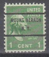 USA Precancel Vorausentwertung Preo, Bureau New York, Mount Vernon 804-71 - United States