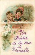 PARIS - Un Baiser De La Rue De Grenelle, Carte Fantaisie.(petit Chat) - Arrondissement: 15