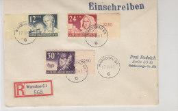 GG - R-Brief Mit Satz 56/58 Vom Rechten Seitenrand Aus Warschau 17.11.41 - Occupation 1938-45