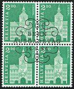 BLOC DE 4 OBLITERE 1er/J.14.9.1964. C/.S.B.K. Nr:425. Y&TELLIER Nr:737. MICHEL Nr:802. - Schweiz