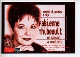 REF 296  : CPM Carte à Pub LEVALLOIS PERRET Fabienne Thibeault - Levallois Perret