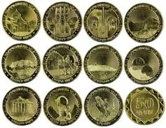 ARMENIA 50 DRAM 11 COINS SET UNC 2012 PROVINCES REGIONS AND YEREVAN - Armenia
