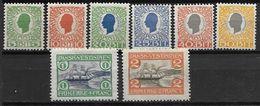 Antilles Danoises 1905 N° 27/34 Neufs * MLH Christian IX Et Bateau Dans Le Port De St Thomas Cote 140 Euros - Denmark (West Indies)