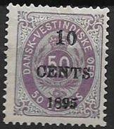 Antilles Danoises 1895 N° 15 Neuf * MLH Surchargé Cote 50 Euros - Denmark (West Indies)