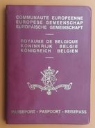 Passport Belgium Belgie 1986 Exp 1991 Visas Venezuela,Canada,United States With Fiscal Tax Stamps - Historical Documents