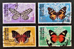 PAPILLONS 1978 - OBLITERES - YT 858/61 - MI 883/86 - Thailand