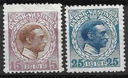 Antilles Danoises 1915 N° 46 Et 48 Neufs * MLH Cote 12 Euros - Denmark (West Indies)