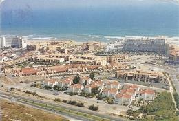 CPM. PORT BARCARES - VUE AERIENNE  -  AFFR AU VERSO LE 20-8-1991 . 2 SCANES - Port Barcares
