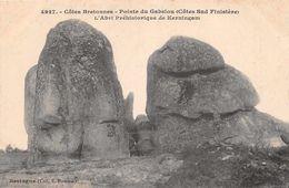 DOLMEN Et Menhir  -  Pointe Du Gabelou - L'abri Prehistorique  De KERNINGAM ( 29 Sud ) - Dolmen & Menhirs