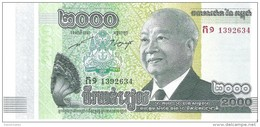 Cambodia - Pick 64 - 2000 Riels 2013 - Unc - Cambodge