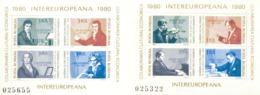 Rumänien Block 169 + 170 Intereuropa MNH  Postfrisch ** - Blocks & Sheetlets