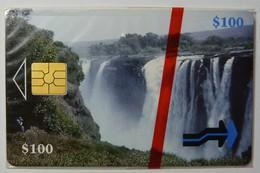 ZIMBABWE - 1st Issue - Waterfalls - $100 - 10/97 - Mint Blister - Zimbabwe