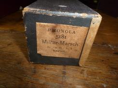 Rouleau Ancien Perforé Pour Piano Mécanique PHONOLA 5181 Militär - Marsch , Es. Op. 51  N° 3   Schubert - Andere Producten